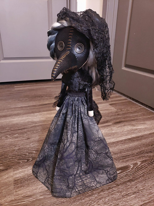 "22"" Handmade Free-standing Plague Doctor Doll"