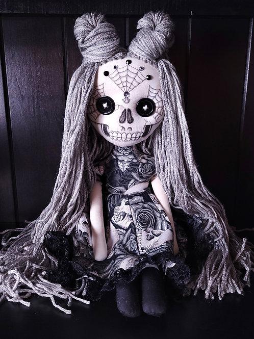 """18"""" Handmade Sugar Skull Doll"""