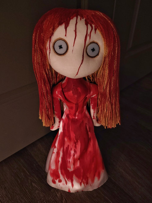 "19"" Handmade Free-standing Carrie Doll"