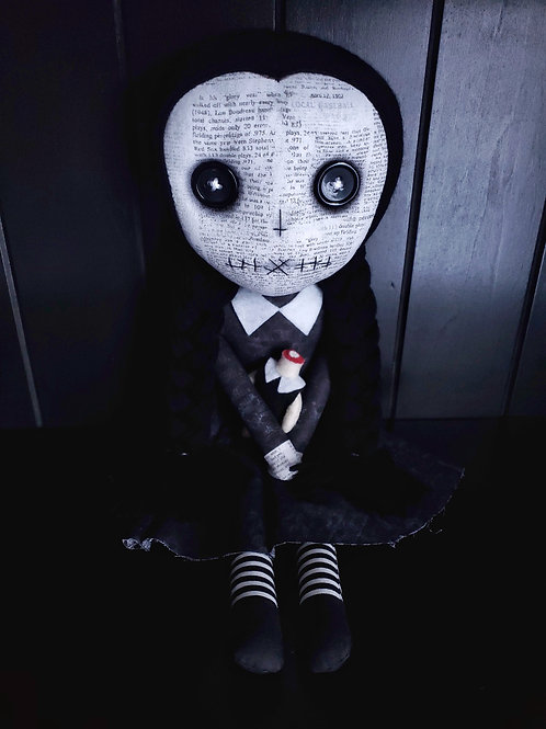 PRE-ORDER Creepy Wednesday Addams Doll
