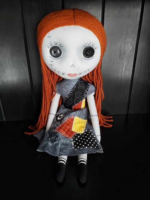 "16"" Handmade Not-Sally Doll"