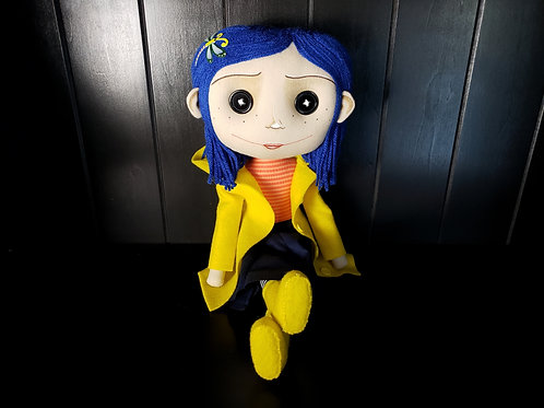 "16"" Handmade Coraline-Inspired Art Doll"