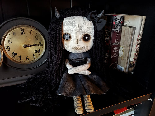 "16"" Handmade Demon Girl with Book"
