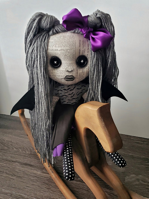 """16"""" Handmade Bat Doll with Wings"""