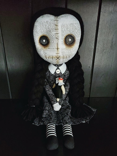 "16"" Handmade Doll Wednesday Doll"