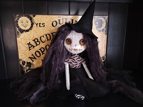 "13"" Handmade Mini Moody Witch Doll"