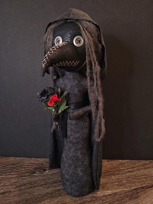 "21"" Handmade Free-standing Plague Doctor Doll"