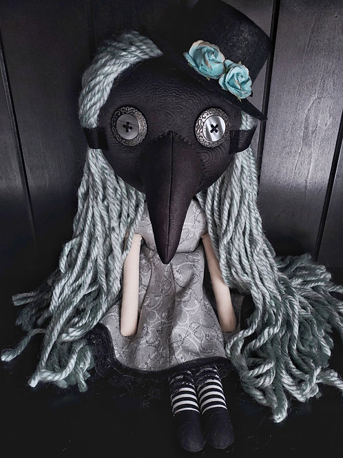 "16"" Handmade Plague Doctor Doll"