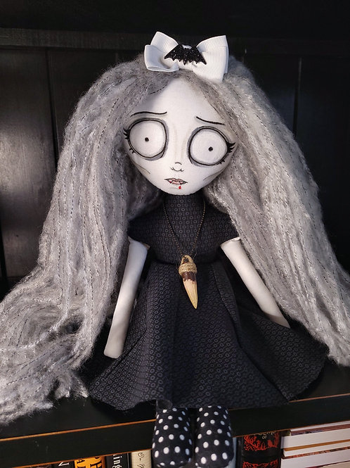 """18"""" Handmade Vampire Doll with Stake Necklace"""