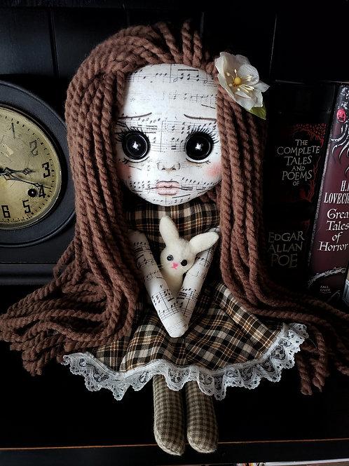 "16"" Handmade Doll with Bunny"