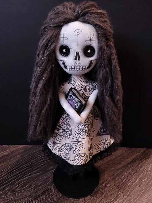 "18"" Handmade ""Palm-Reader"" Skull Doll (With Handmade Book)"