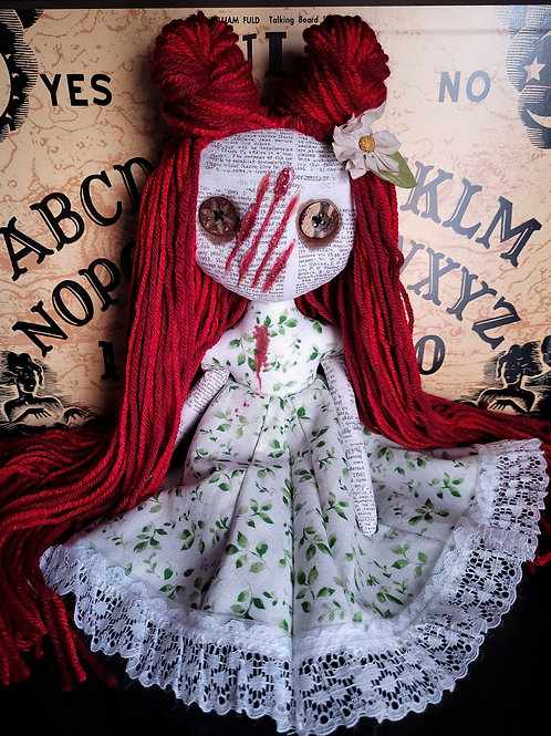 "13"" Handmade Slashed-face Mini Moody Doll"