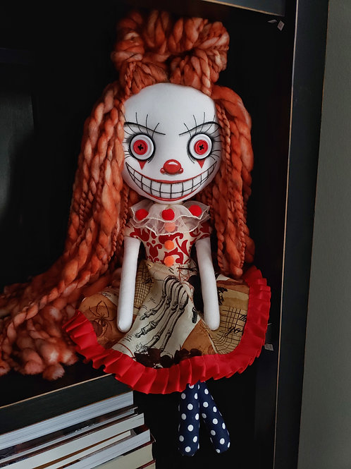 "16"" Handmade Clown Doll"