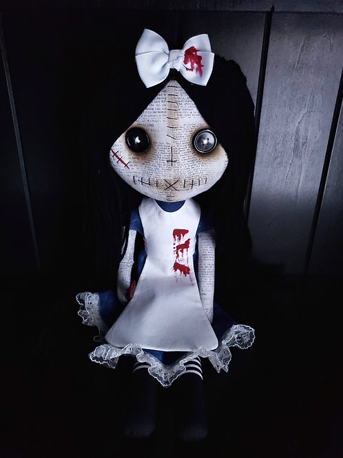 """18"""" Handmade Gothic Alice Doll with Knife"""