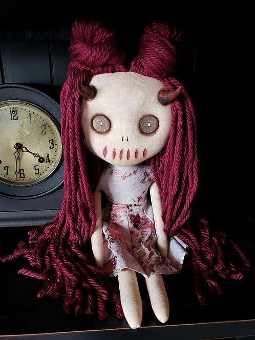 """16"""" Handmade Horned Doll"""