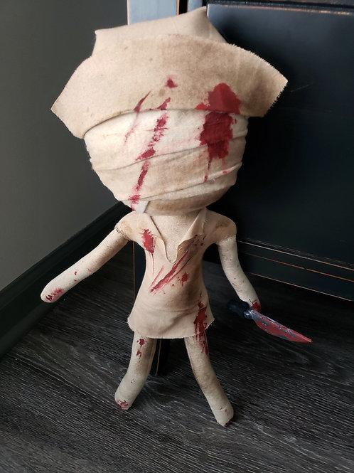 """17"""" Handmade Silent Hill Nurse with Knife"""