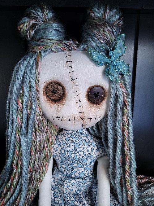 "18"" Handmade Grungy Doll 'Blue'"