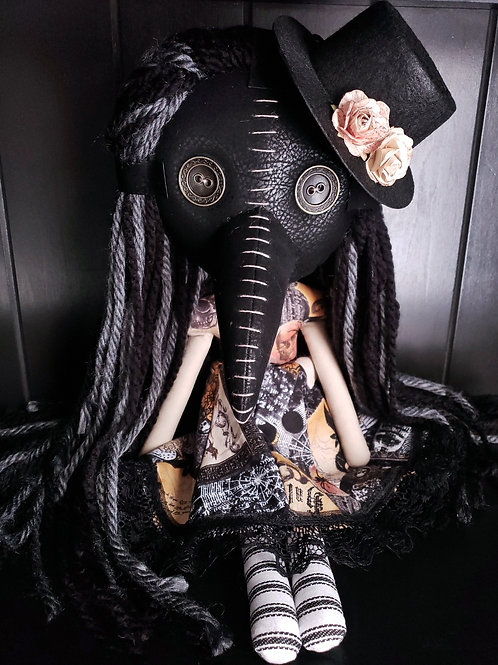 "18"" Handmade Plague Doctor Doll With Hat"