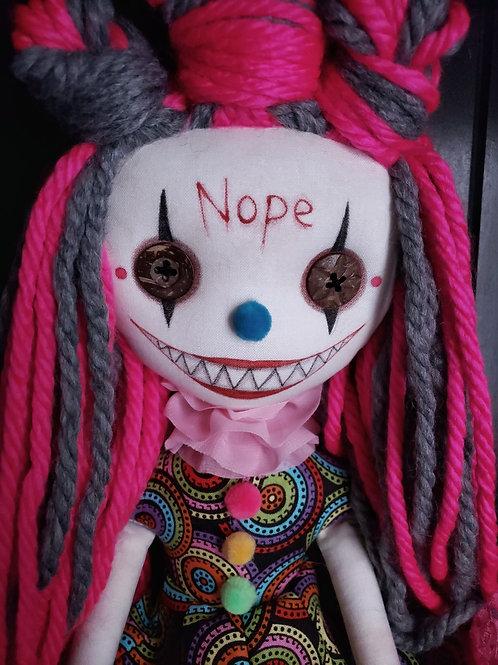 "18"" Handmade Chatter Clown Doll ""Nope"""