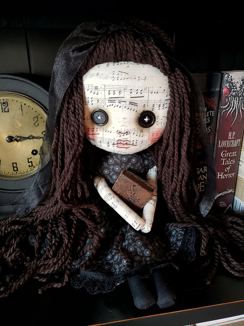 "16"" Handmade Doll with Book"