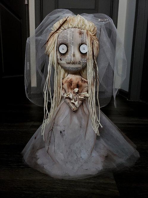 """18"""" Handmade Dead Bride Doll"""