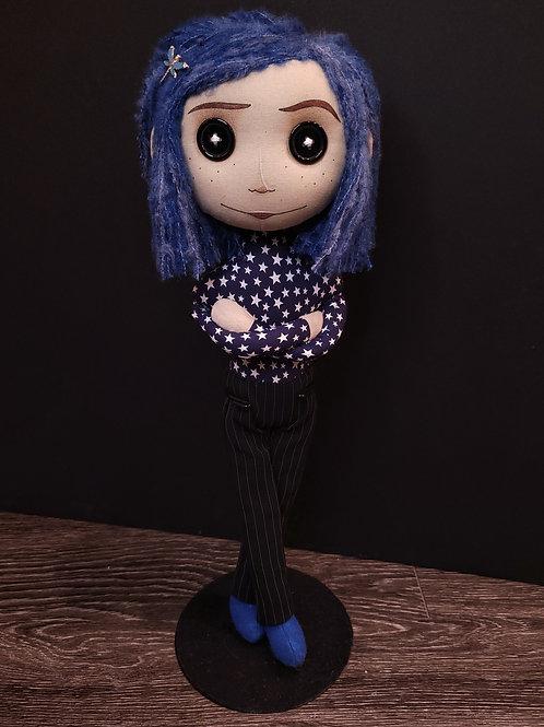 "18"" Handmade Coraline-Inspired Doll"