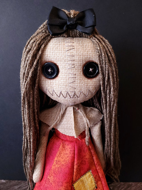"""18"""" Handmade Samantha Doll (Dark Hair)"""