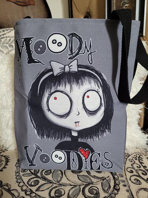"""13"""" """"Piper the Vampire"""" Canvas Tote Bag"""