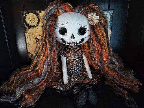 """19"""" Handmade Happy Skull Doll"""