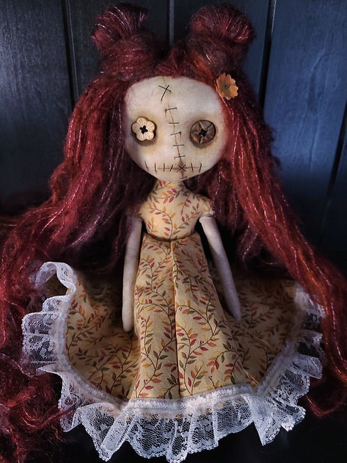 "13"" Handmade Mini Moody Doll - Red"