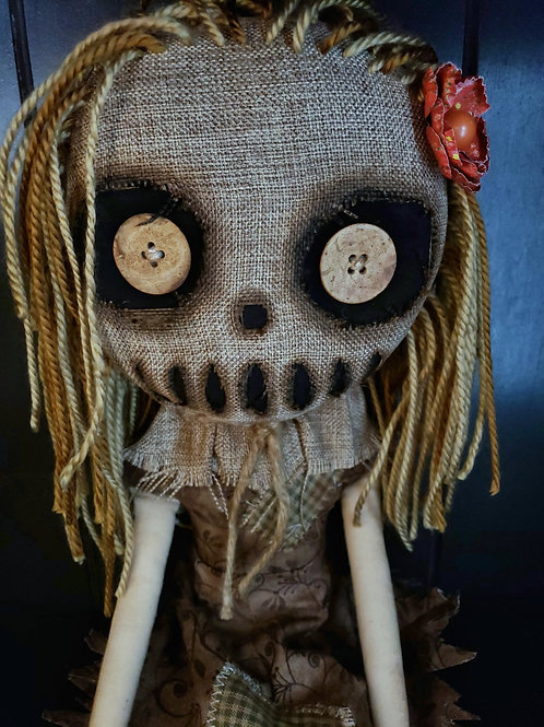 "16"" Handmade Creepy Scarecrow Doll"