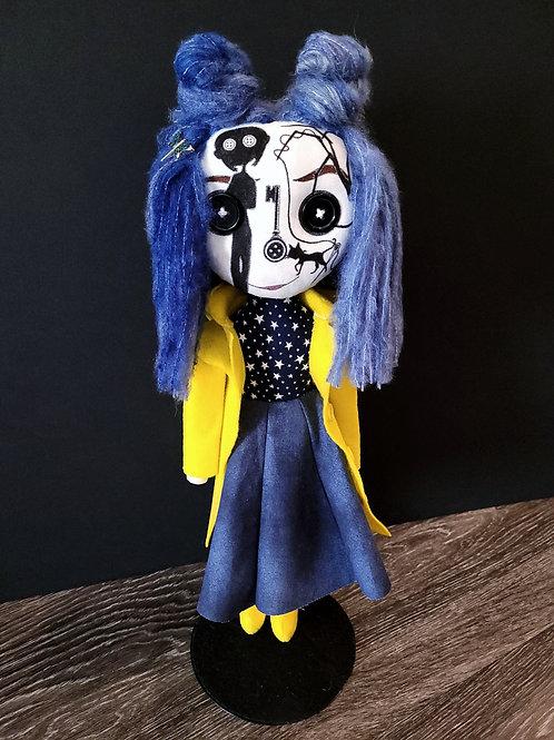 """18"""" Handmade Coraline-Inspired Sugar Skull Doll"""