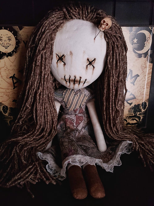 "18"" Handmade Clay-Face Voodoo Doll"