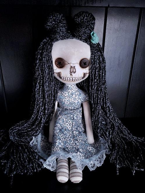 """18"""" Handmade Skull-faced Doll 'Blue'"""