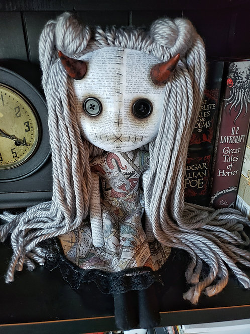 "16"" Handmade Horned Doll"