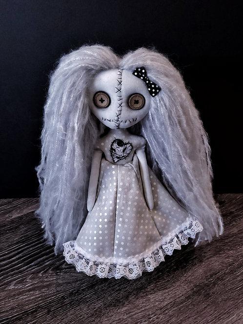 "13"" Handmade Mini Moody Doll (White)"