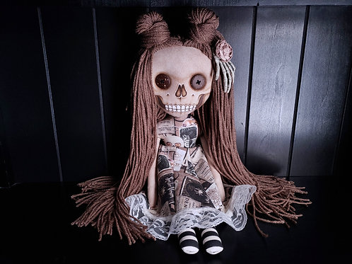 "18"" Handmade Skull-faced Doll"