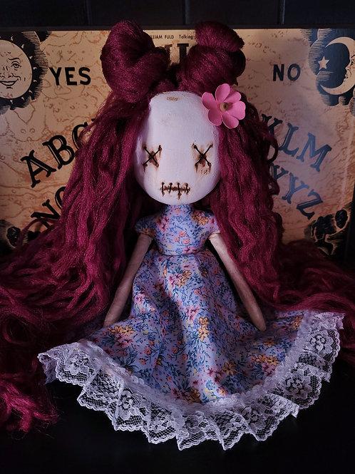 """13"""" Handmade Mini Moody Clay-face Doll"""