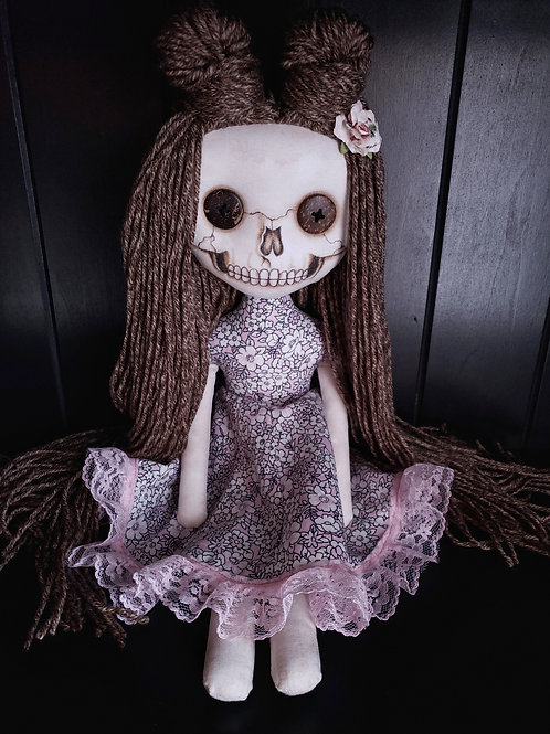 "18"" Handmade Skull-faced Doll 'Pink'"