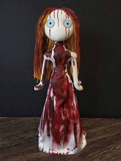 "19"" Handmade Free-standing Carrie Doll"