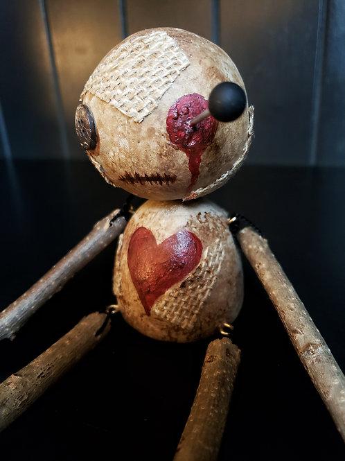 "4"" Handmade Voodoo Doll 'Ringo'"