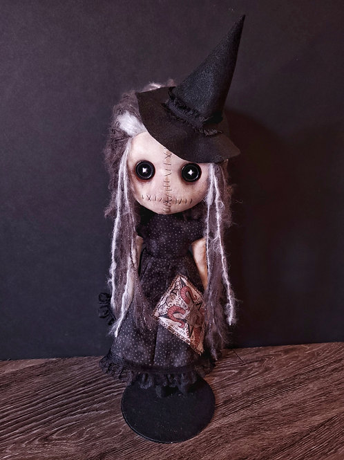 """18"""" Handmade Grungy Witch Doll"""