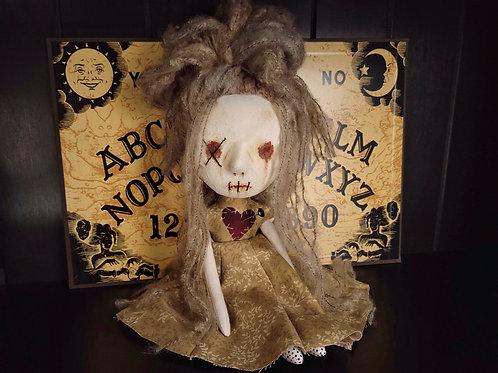 "13"" Handmade Mini Clay-face Voodoo Doll (One X Eye)"