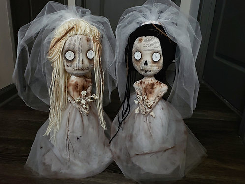 "PRE-ORDER 18"" Handmade Dead Bride Doll"