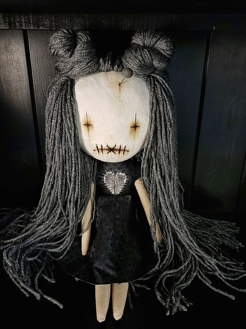 "16"" Handmade Clay-Face Doll"
