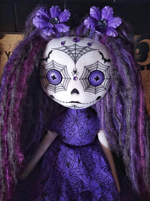 """18"""" Handmade Sugar Skull Doll (Purple)"""