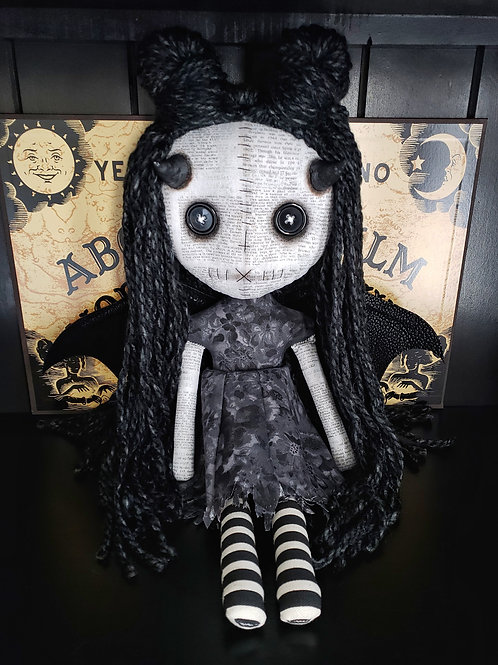 "16"" Handmade Winged Demon Doll"