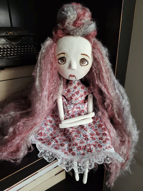 "18"" Handmade Vantriliquest Art Doll ""Candy"""