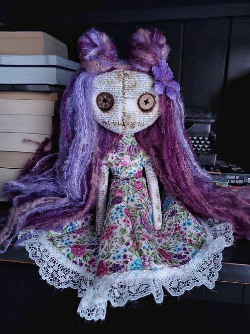 "13"" Handmade Mini Moody Doll (Purple/Pink Hair)"
