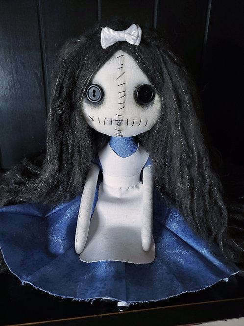 "13"" Handmade Mini Grungy Alice Doll"